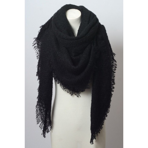 likeNarly Accessories - These are the days blanket scarf - Solid Black